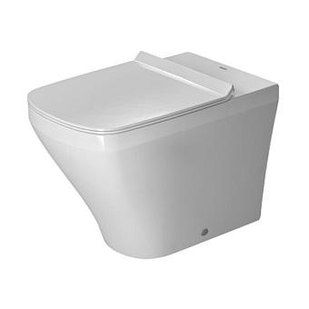 Duravit DuraStyle Унитаз напольный пристенный 37х57см,  с креплением,слив в стену.   цвет белый с сиденьем белым с микролифтом