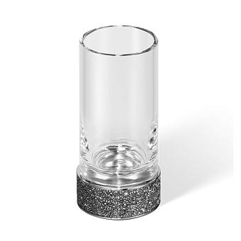 Decor Walther Rocks SMG Стакан настольный, прозрачное стекло, с кристаллами Swarovski, цвет: хром