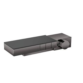 Axor Edge Смеситель для душа, термостат, на 3 источника, алмазная огранка, цвет: черный