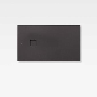 Armani Roca Baia Душевой поддон 140х80х3.1см с боковым сливом, с anti-slip, мат-л: Stonex, цвет: dark metallic