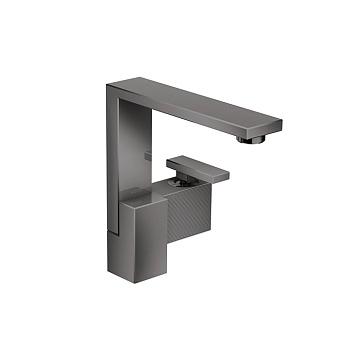 Axor Edge Смеситель для раковины, на 1 отв., с донным клапаном push/open, излив 175мм, алмазная огранка, цвет: черный