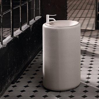 Bette Lux Oval Couture Раковина напольная высота 900 мм, D550 мм, без отв., цвет: белый