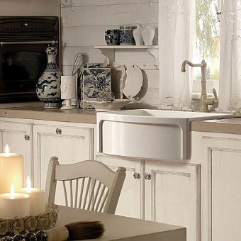 KERASAN Hannah Devon Раковина керамическая кухонная 75x53x25см, без отв., без сифона, цвет: белый