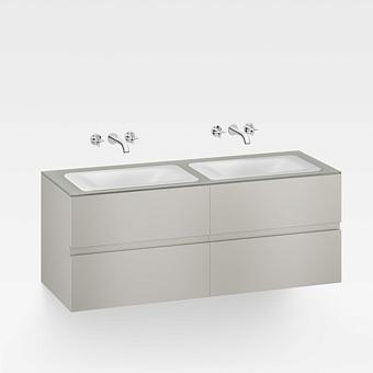 Armani Roca Baia Тумба подвесная с 2 раковинами, 155.4х59х61см с 4 ящиками, со столешницей, цвет: silver