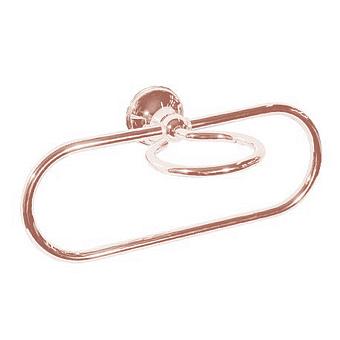 Bertocci Scacco Полотенцедержатель кольцо с держателем мыльницы, подвесной, цвет: розовое золото