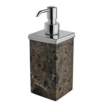 3SC Palace MARMO Дозатор для жидкого мыла,  настольный, цвет: мрамор Emperador dark/хром