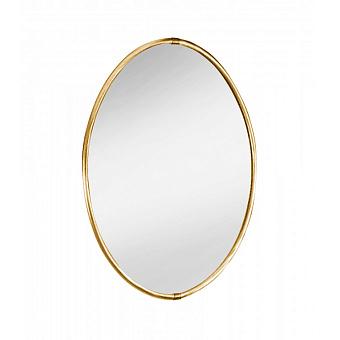 Зеркало косметическое Bongio Axel, подвесной монтаж, цвет: золото 24к.