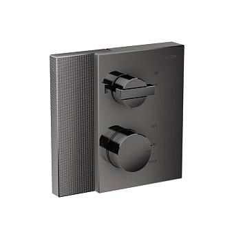 Axor Edge Смеситель для душа, встраиваемый, термостат, на 1 источник, с запорным вентилем, алмазная огранка, цвет: черный