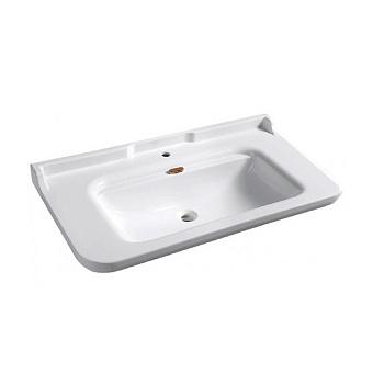 Kerasan Waldorf Раковина 120х55 см, 1 отв., керамическая, цвет: белый/бронза