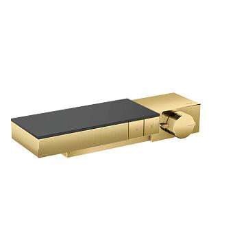 Axor Edge Смеситель для душа, термостат, на 2 источника, алмазная огранка, цвет: золото