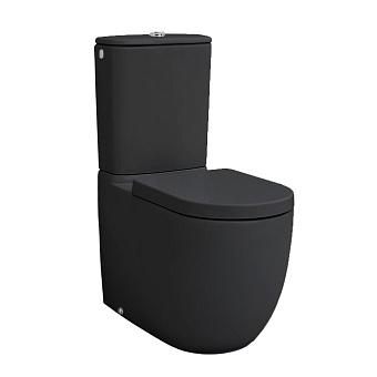 Artceram File 2.0 Унитаз напольный, 67х37хh42см, (чаша моноблока), слив универсальный, с крепежом, цвет: черный матовый