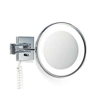 Decor Walther BS 25 PL/V Косметическое зеркало 22см, подвесное, увел. 5x, с подсветкой, цвет: хром