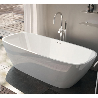 Gruppo Treesse Brio Ванна отдельностоящая 170х72х56 см из искусственного камня, цвет белый