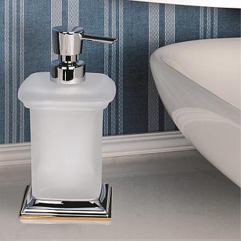 Colombo Portofino Дозатор для жидкого мыла, настольный, цвет: хром/золото