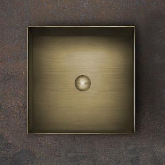 Gessi 316 Раковина 40x40 см, без отв., для установки на столешницу, без перелива, нержавеющая сталь, цвет: Warm bronze brushed PVD