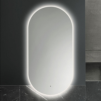 Burgbad Lavo 2.0 Зеркало 100х50х4.2см, LED подсветка по периметру, 4250К, с выключателем