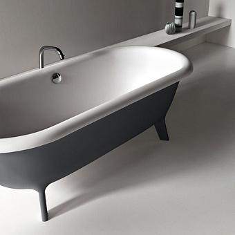 Agape Ottocento Ванна отдельностоящая 178х79х59.5 см, цвет: темно-серая