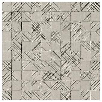 Fap Bloom Керамическая плитка 30,5x30,5см., для ванной, настенная, мозаика, цвет: металл серебро/grey