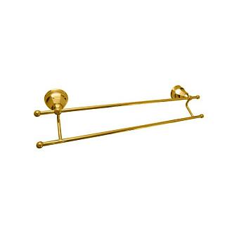 Nicolazzi Teide Полотенцедржатель двойной, подвесной, цвет: золото 24к