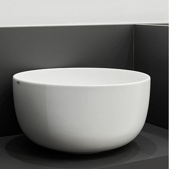 Cielo Era - Eco Раковина накладная 62x45xh18 см, овальная, цвет: глянцевый белый