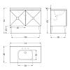 Devon&Devon Jetset 2, Комплект мебели, Цвет: antiqued aluminium leaf