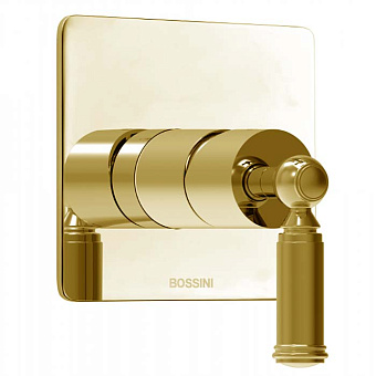 Bossini Liberty Смеситель для душа, встраиваемый, с девиаторм 1 направления , цвет: золото