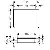 Axor Universal Полочка, 150х110мм, материал: стекло/металл,монтаж на рейлинг, цвет: хром