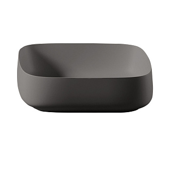 Artceram COGNAC Раковина Quadro 55x35х15.5 см, без отв., накладная, без перелива, цвет: черный глянцевый