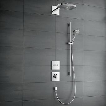 Hansgrohe Rainmaker Select, Прямоугольный верхний душ с подсветкой 680х460 мм, цвет: Хром