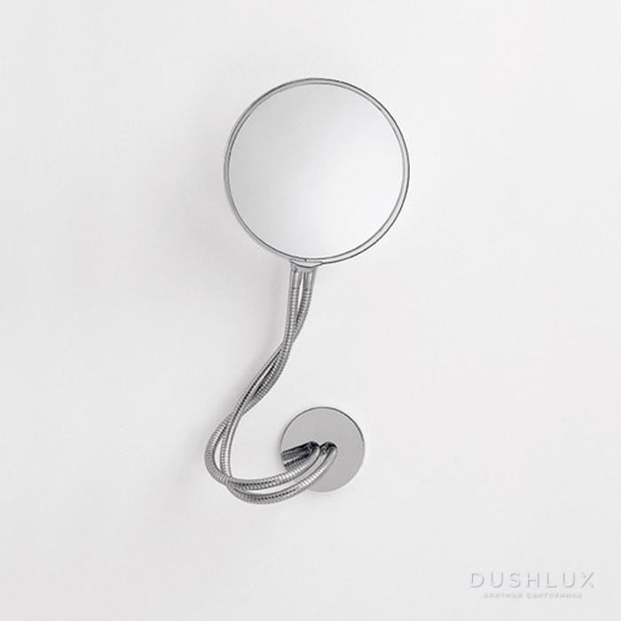 Agape Fusilli Зеркало двухстороннее d21 см, круглое, цвет: хром