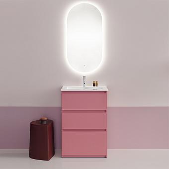 Burgbad Lin20 Комплект мебели 63х41.5х91.2см, напольный, с раковиной, с зеркалом LAVO 2.0, с 3 ящиками, цвет: Old rose matt