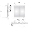 Keuco Royal Reflex NEW Зеркальный шкаф с двойной подсветкой 650*700*150 мм, Цвет: Белый