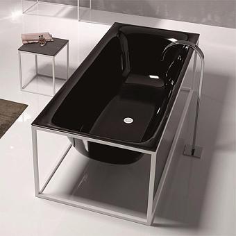 Bette Lux SHAPE Ванна 180х80х45см, отдельностоящая, на каркасе, BetteGlasur® Plus, черная