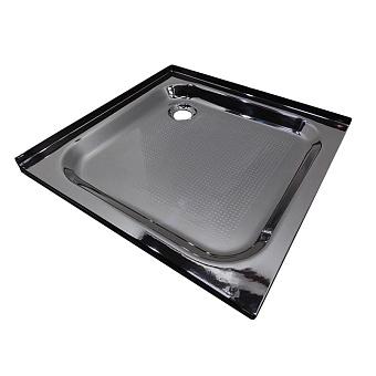 Bette Душевой поддон квадратный 90х90хh6,5см, D52 мм, с окантовкой по 2м сторонам, цвет: чёрный