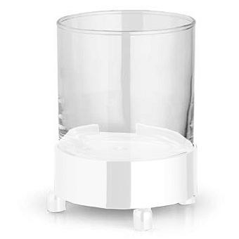 Bertocci Cinquecento Стакан настольный, цвет: прозрачное стекло/белый матовый