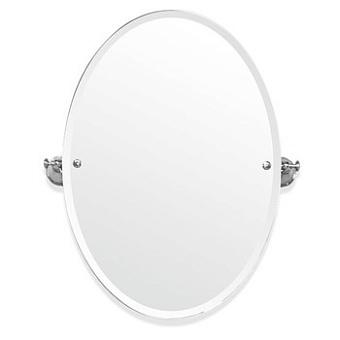 TW Harmony 021, вращающееся зеркало овальное 56*8*h66, цвет держателя: белый/хром