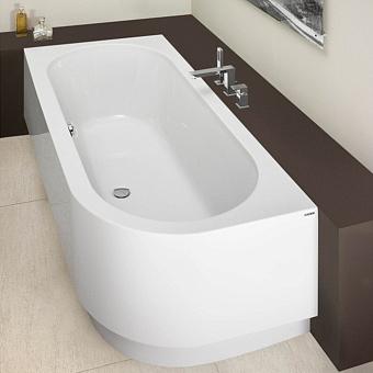 Hoesch Happy D. Ванна угловая 180х80х64см, SX, с гидро и аэромассажем Reviva II Power+Air, цвет: белый