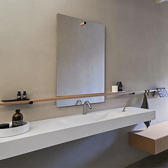 Agape Dot line Прямоугольное зеркало, 80x45см, с полированной кромкой, цвет: коричневый дуб