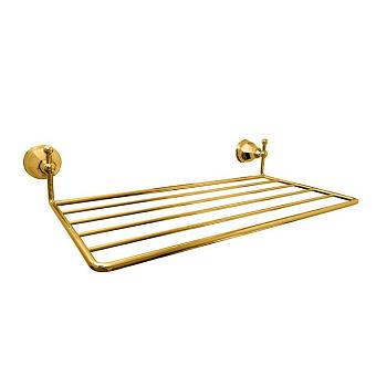 Nicolazzi Teide Полотенцедержатель-полочка, подвесной, цвет: золото 24к
