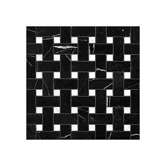 Devon&Devon Elite Плитка из натурального камня 60x60см, универсальная, мрамор, elite 6, цвет: black marquinha/white carrara