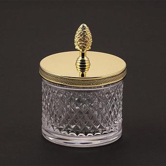 Cristal et Bronze Prestige Баночка из рифленного стекла с крышкой, цвет: золото