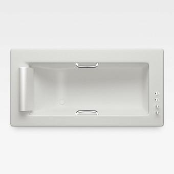 Armani Roca Island Встраиваемая ванна 214.5х110см термостат руч. душ, Hide-Flow, ручки, мягкий подголовник, цвет: off-white/хром