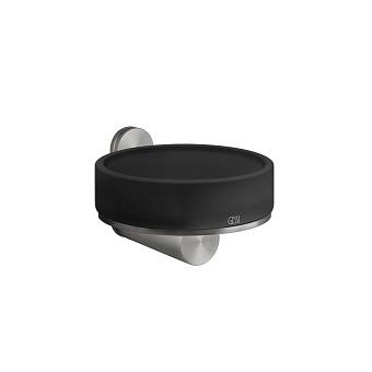 Gessi 316 Мыльница настенная, цвет: шлифованная сталь/черный