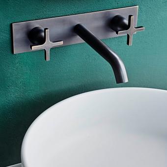 Agape Memory Настенный смеситель для раковины, излив: 150мм, цвет: сталь
