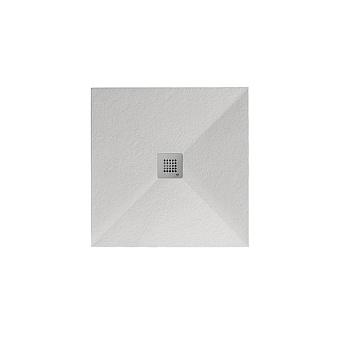 Noken Slate Душевой поддон 80X80см, Mineral Stone, цвет: белый