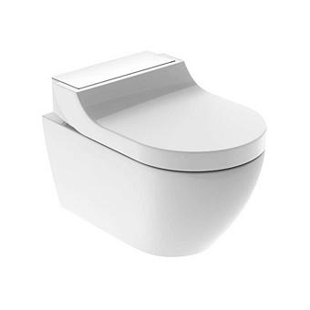 Geberit AquaClean Tuma Comfort Унитаз-биде подвесной 55х36см, цвет: стекло/белый