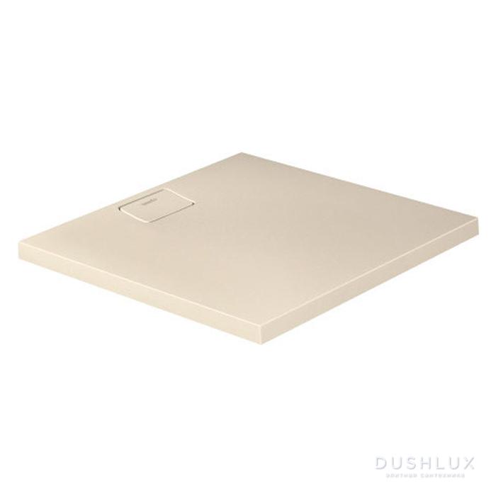 Duravit  Stonetto Поддон композитный квадратный  90x90х5см, d9см, цвет: песочный