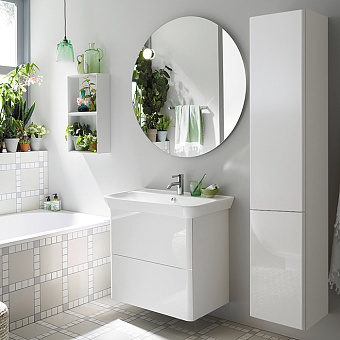 Burgbad Iveo Комплект мебели с раковиной 800 мм, цвет: белый глянец