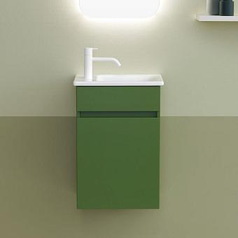 Burgbad Lin20 Комплект мебели 42х27х60см, правый, подвесной, с раковиной, с 1 дверью, цвет: Moss Green Matt