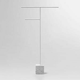Antonio Lupi Bivio Полотенцедержатель напольный, база из мрамора Carrara satinato, структура из латуни, цвет: Bianco opaco